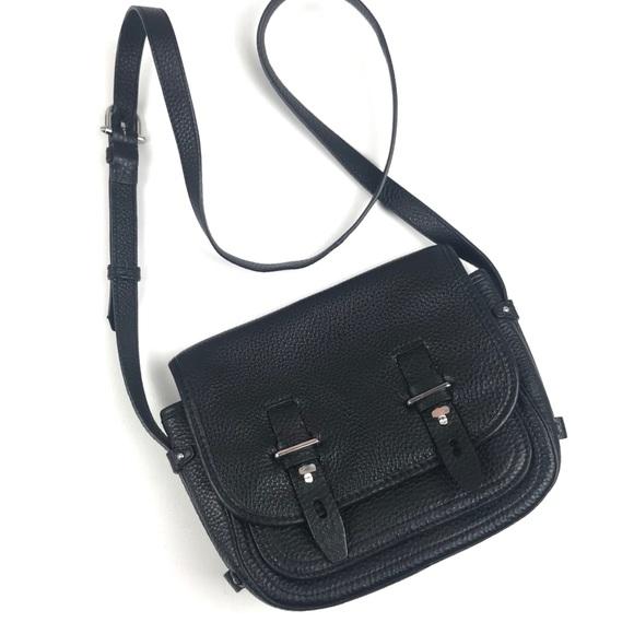 Etienne Aigner Handbags - Etienne Aigner Black Leather Crossbody